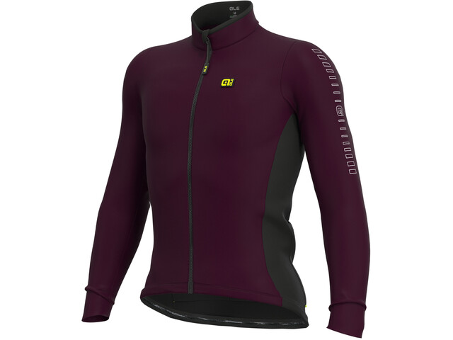 Alé Cycling Solid Fondo Maillot À Manches Longues Homme, amarone red